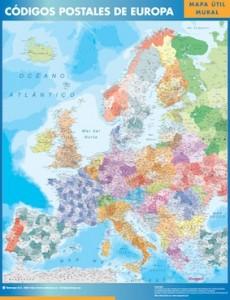 europa mapa magnetico códigos postales