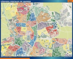 madrid mapa magnetico  códigos postales