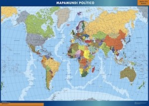 mapa del mundo magnetico