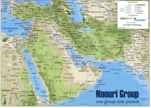 mapa magnetico Oriente Medio