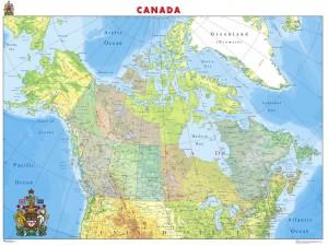 mapa magnetico canada