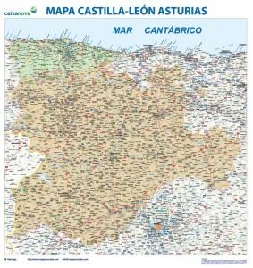 mapa castilla y leon asturias mapa magnetico