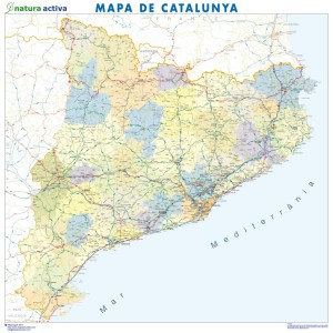 cataluña mapa magnetico