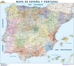 mapa magnetico España Politico