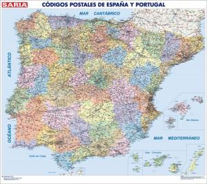 mapa magnetico España Codigos Postales