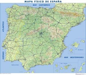 mapa magnetico España Fisico