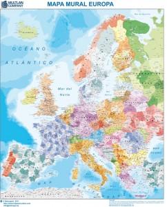 mapa magnetico Europa Códigos Postales
