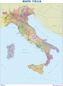 mapa magnetico italia
