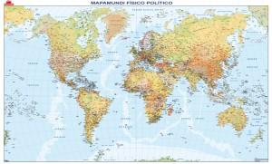 mapa magnetico mundi fisico politico