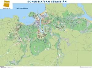mapa magnetico Donostia/San Sebastian