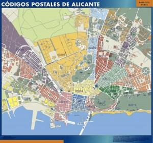 Alicante mapa magnetico  códigos postales