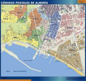 almeria mapa magnetico  códigos postales