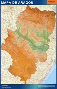 mapa magnetico  aragon mural
