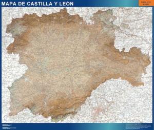 mapa magnetico mural castilla y leon