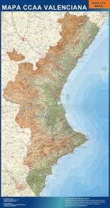 mapa magnetico  comunidad valenciana mural