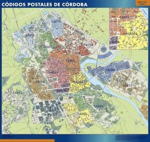 Cordoba mapa magnetico  códigos postales