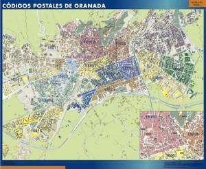 granada mapa magnetico  códigos postales