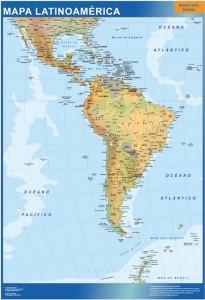 mapa magnetico latinoamerica mapa mural