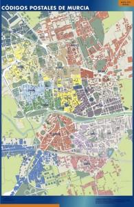 murcia mapa códigos postales