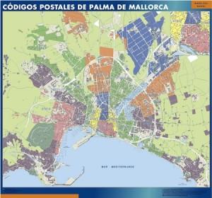 palma de mallorca mapa magnetico  códigos postales