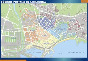 Tarragona mapa magnetico  códigos postales