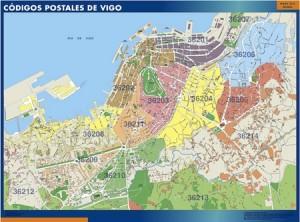 Vigo mapa magnetico  códigos postales