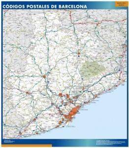 barcelona provincia mapa magnetico  códigos postales