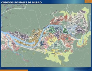 Bilbao mapa magnetico códigos postales