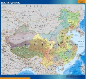 mapa magnetico  China mural