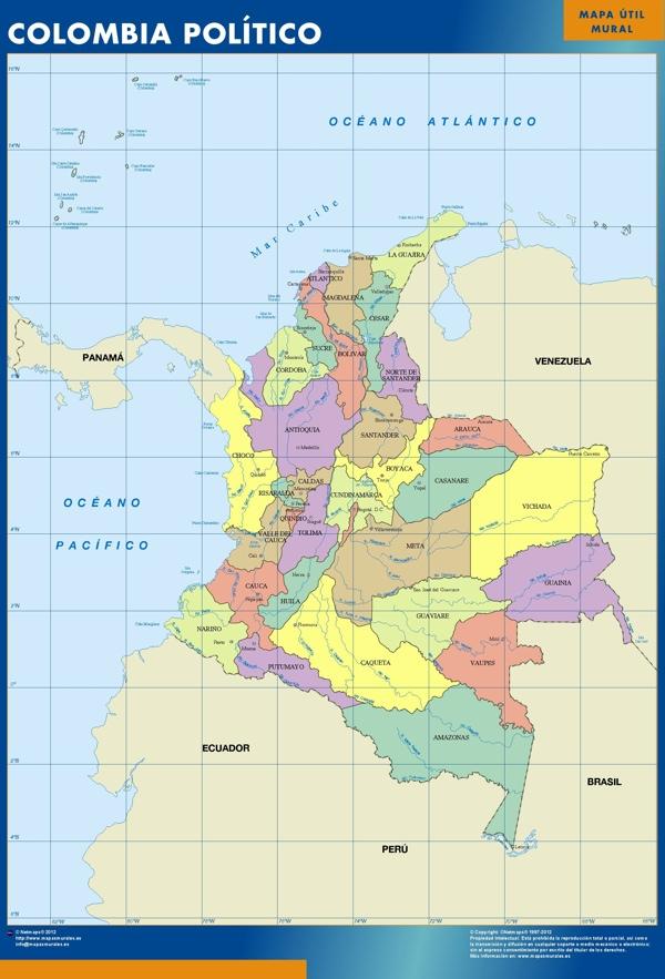 colombia mapa magnetico
