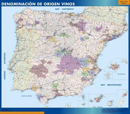 España mapa magnético Denominacion Origen Vinos Do