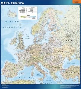 Europa Politico mapa magnetico