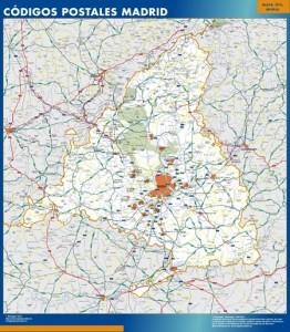mapa magnetico CCAA Madrid Codigos Postales
