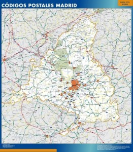 madrid provincia mapa magnetico códigos postales