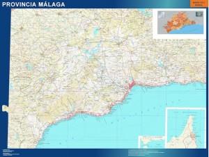 Malaga mapa magnetico