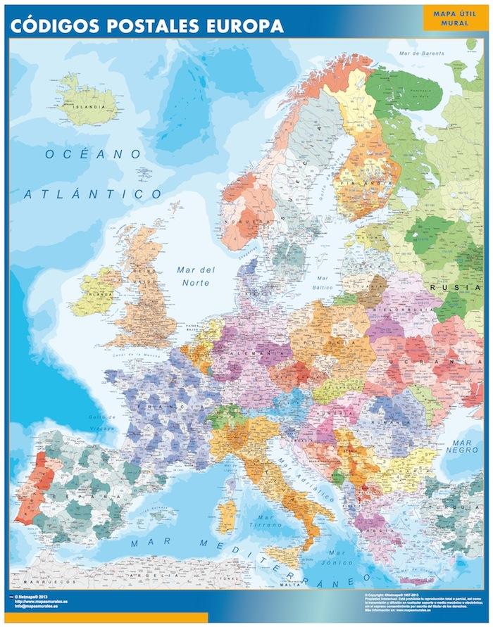 mapa magnetico europa codigos postales