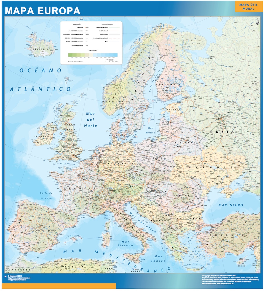 mapa magnetico europa politico