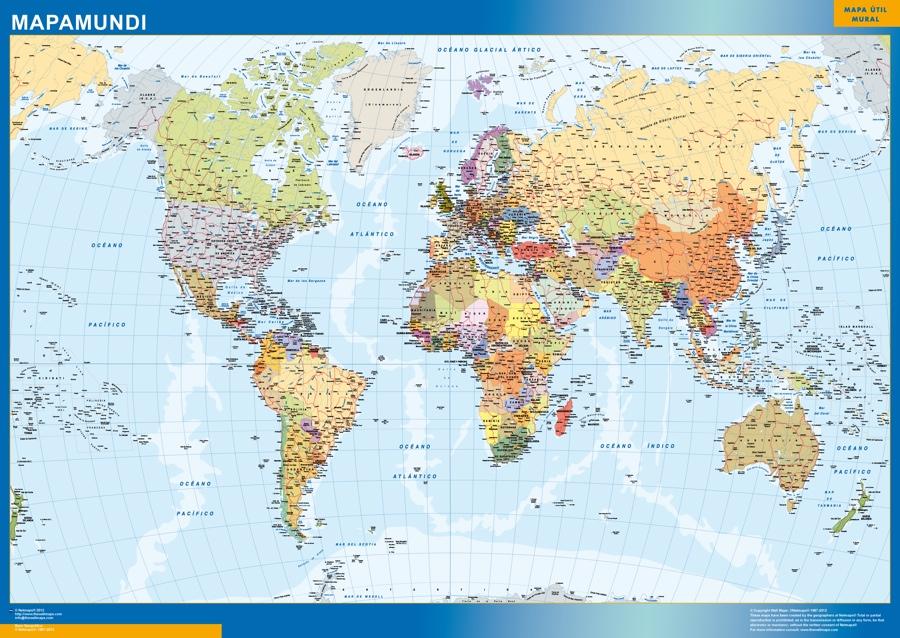 mapamundi magnetico español para marcar con imanes