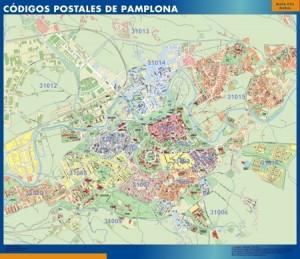pamplona mapa magnetico  magnetico  códigos postales