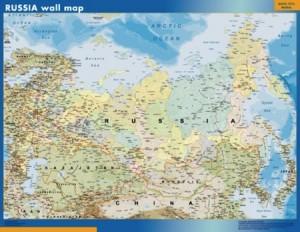 Rusia mapa mural