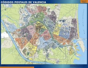 valencia mapa magnetico  códigos postales