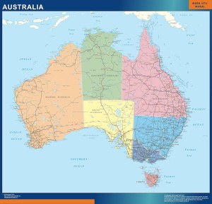 mapa magnetico australia mapa mural