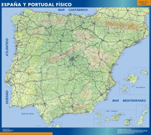 mapa magnético España físico