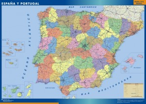 mapa magnetico españa mapa politico