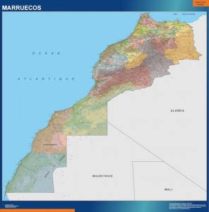 mapa magnetico Mural Marruecos