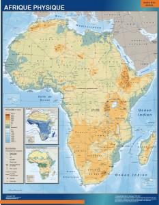 mapa magnetico Africa fisico mural
