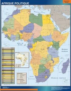 mapa magnetico Africa Politico Mural