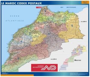 mapa magnetico Marruecos codigos postales