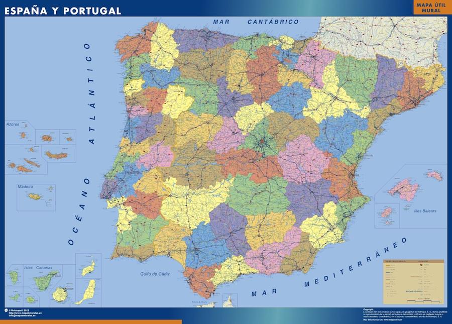 mapa magnético espana
