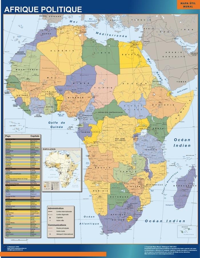 mapa magnetico africa politico